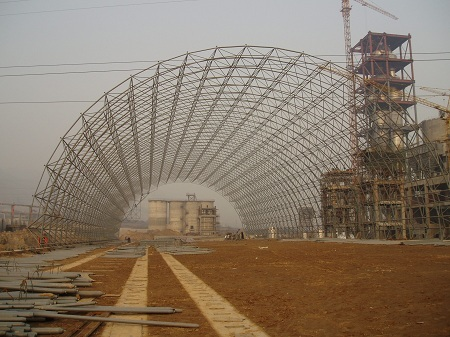 水泥厂网架安装现场