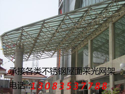 宾馆门厅不锈钢网架